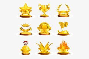 Golden Trophy PNG