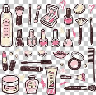Cosmetics Drawing Watercolor Painting PNG