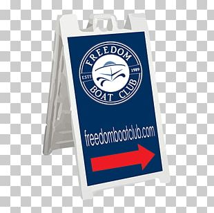 Signage Freedom Boat Club Product Graphics Cobalt Blue PNG