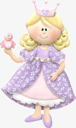 Crown Lovely Hand-painted Doll PNG
