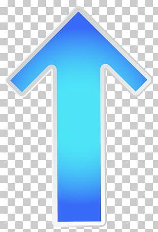 Green Arrow Blue PNG