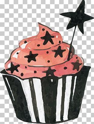 Watercolor Magic Cake PNG
