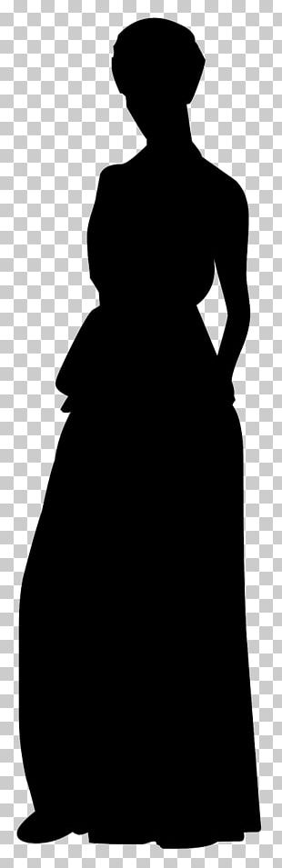 Wedding Dress Evening Gown Silhouette PNG