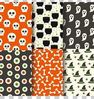 Halloween Jack-o'-lantern Textile Pattern PNG