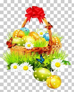 Easter Bunny Easter Basket PNG