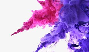 Water Blooming Color Ink PNG
