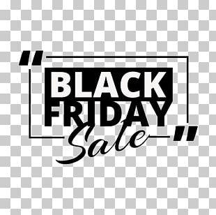 Black Friday Promotional English Font Label PNG