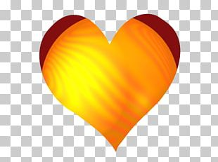 Yellow Orange Red Heart Blue PNG