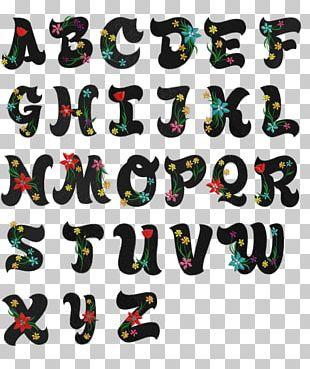 Lettering Alphabet Cursive Font PNG