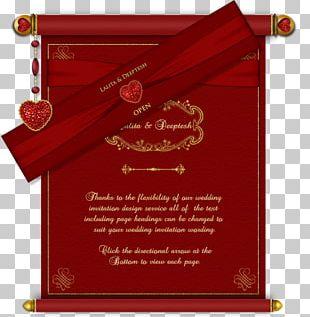 Wedding Invitation Paper Hindu Wedding Marriage PNG