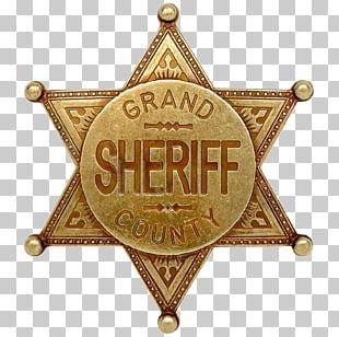United States American Frontier Badge Sheriff Police PNG