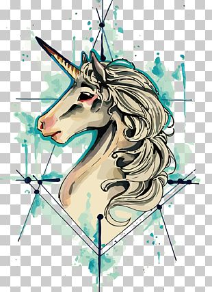 IPhone 8 Unicorn Tattoo Drawing Flash PNG