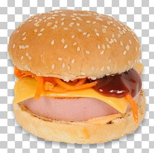 Hamburger Cheeseburger Breakfast Sandwich Fast Food Ham And Cheese Sandwich PNG