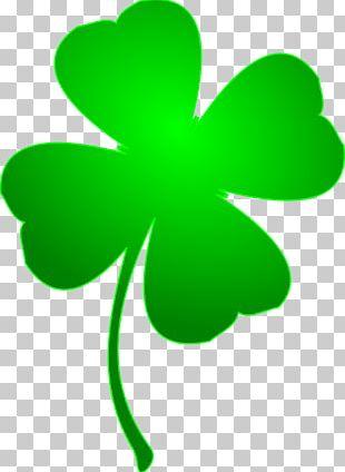 Ireland Saint Patrick's Day Four-leaf Clover Shamrock PNG