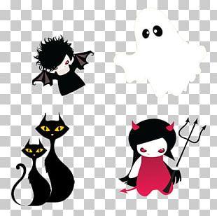 Cat Halloween Devil Ghost PNG