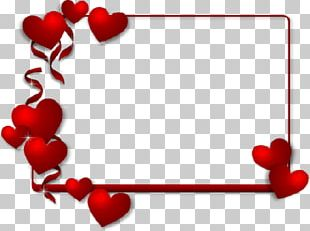 Valentine's Day Frames Heart Paper PNG