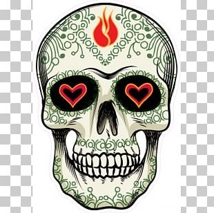 Calavera Flower Skull Day Of The Dead PNG