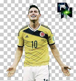 James Rodríguez 2014 FIFA World Cup Jersey T-shirt Brazil PNG
