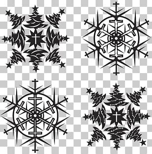 Christmas Snowflake Pattern PNG