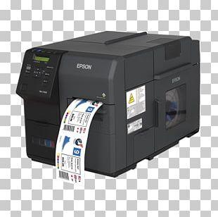 Label Printer Epson Inkjet Printing PNG