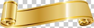 Ribbon Gold PNG