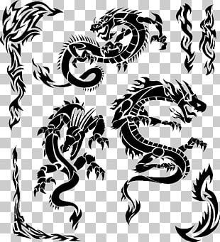 Tattoo Chinese Dragon Japanese Dragon Illustration PNG