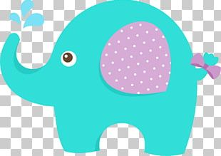 Baby Shower Elephant Infant PNG