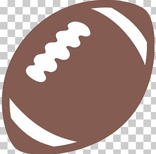 Emoji American Football Rugby Line Drawing PNG