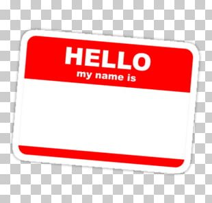 My Name Is Name Tag Sticker Label Idea PNG