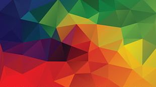 Color Geometry Triangle Pattern PNG