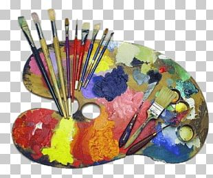 Artists Palette And Supplies PNG