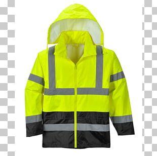 T-shirt High-visibility Clothing Portwest Raincoat PNG