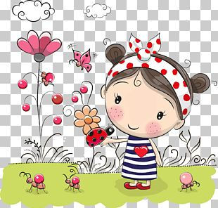 Flowers Little Girl PNG