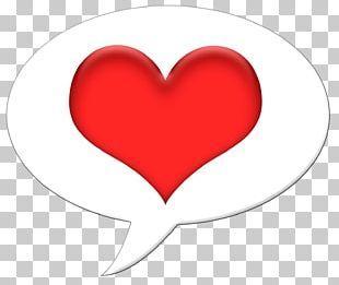 Heart Bubble Speech Balloon PNG