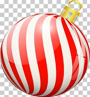 Red Ball Christmas Ornament PNG