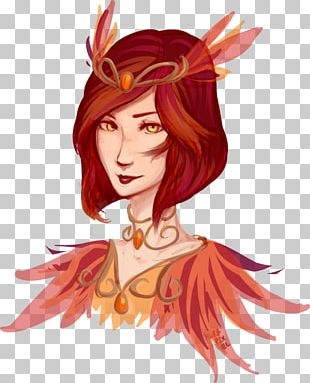 Red Hair Hair Coloring Legendary Creature Brown Hair PNG