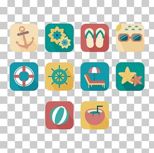 Square Graphic Design Elements Beach PNG