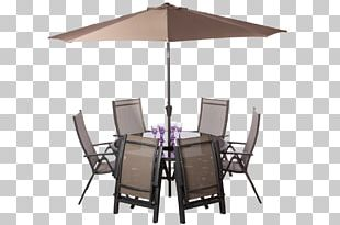 Table Garden Furniture Umbrella Auringonvarjo PNG