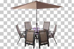 Table Garden Furniture Umbrella Auringonvarjo PNG