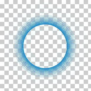 Blue Circle Pattern PNG