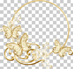 Frame Jewellery Gold PNG
