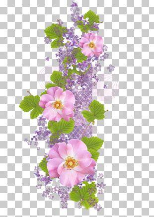 Floral Design Digital Data Cluster PNG