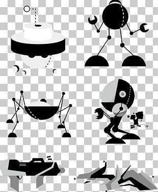 Robot Euclidean Graphic Design PNG