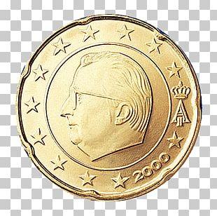 Belgium Belgian Euro Coins 20 Cent Euro Coin 1 Cent Euro Coin 50 Cent Euro Coin PNG