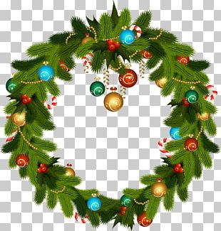 Christmas Ornament Christmas Decoration Candy Cane Wreath PNG
