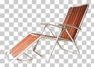 Furniture Chair Chaise Longue Sunlounger Wood PNG