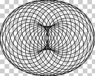 Crop Circle Sacred Geometry Spirograph PNG