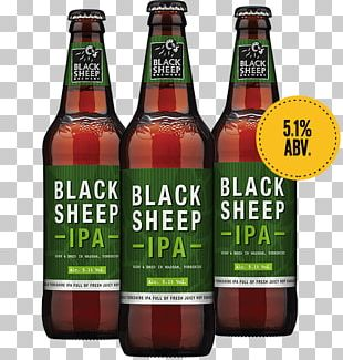 India Pale Ale Black Sheep Brewery Beer Bottle PNG