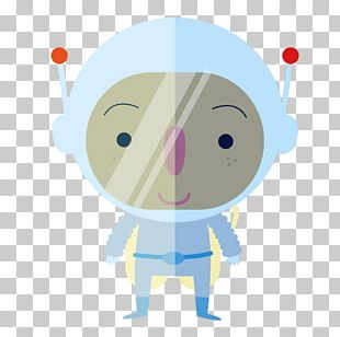 Outer Space Astronaut Cartoon PNG