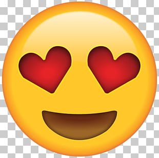 Emoji Heart Eye Smiley Emoticon PNG
